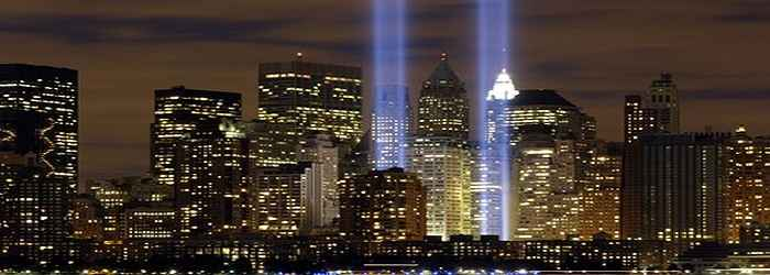 Twin 9-11 Light Beams